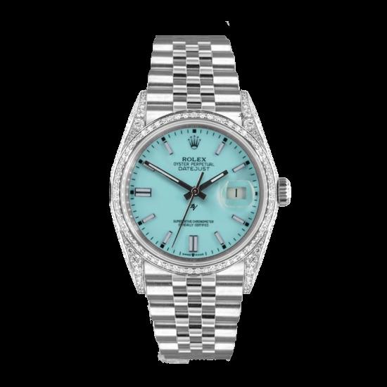 Rolex Datejust Rolex Datejust 36mm With Custom Tiffany dial, bezel diamonds