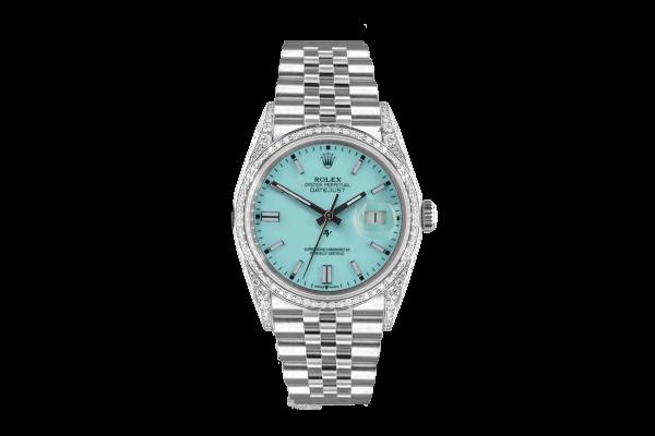 Rolex Datejust 36mm With Custom Tiffany dial, bezel diamonds
