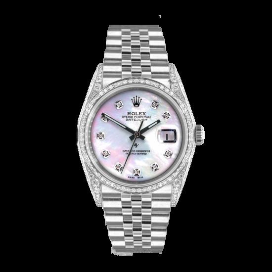 Rolex Datejust Rolex Datejust 36mm With custom added mop diamonds dial, bezel diamonds