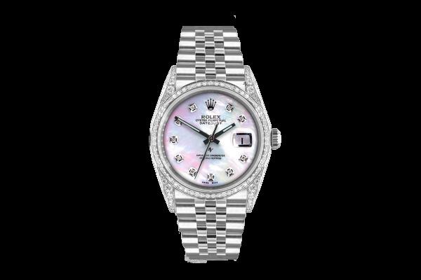 Rolex Datejust 36mm With custom added mop diamonds dial, bezel diamonds