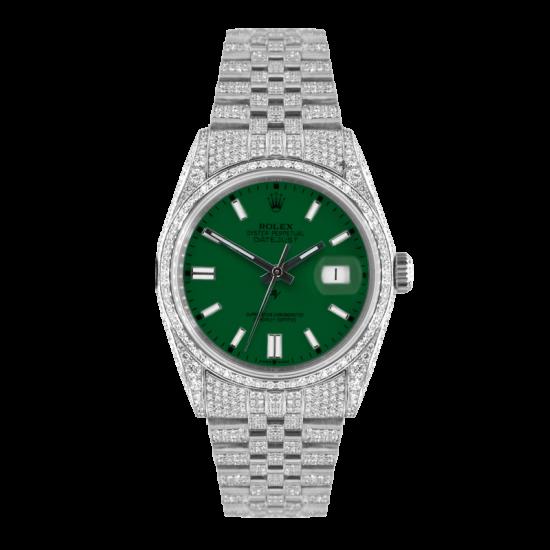 Rolex Datejust Rolex Datejust 36mm With Custom green dial,  Full diamonds