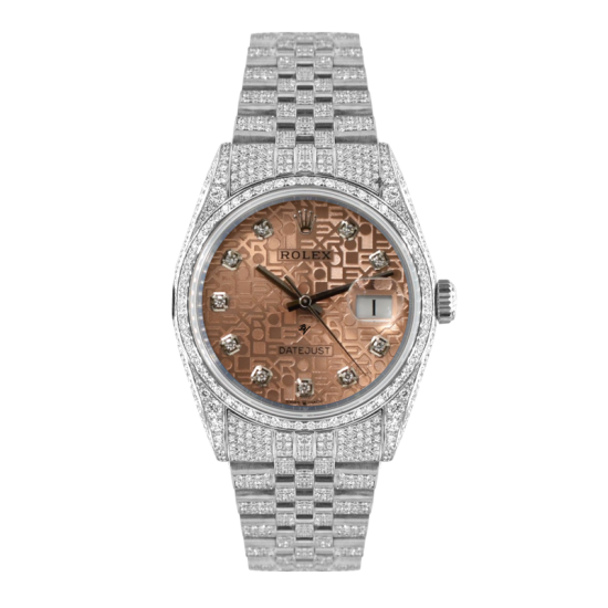 Rolex Datejust Rolex Datejust 36mm With Custom sundast dial,  Full diamonds