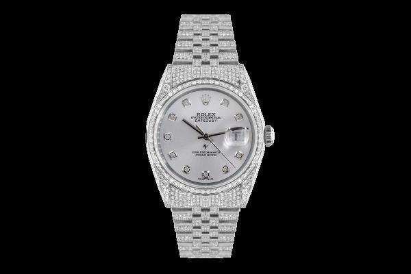 Rolex Datejust 36mm With added diamonds dial, Full diamonds