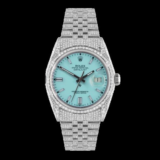 Rolex Datejust Rolex Datejust 36mm With Custom Tiffany dial,  Full diamonds