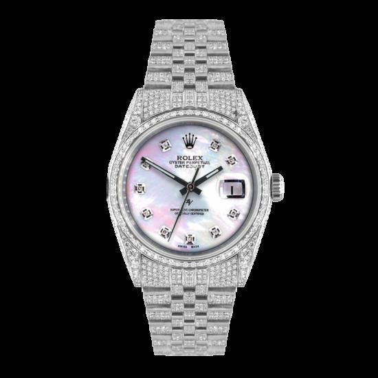 Rolex Datejust Rolex Datejust 36mm With custom added mop diamonds dial - Full diamonds