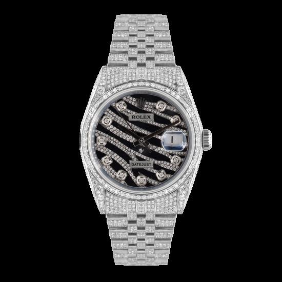 Rolex Datejust Rolex Datejust 36mm Custom With custom Zebra diamonds Dial - Full diamonds