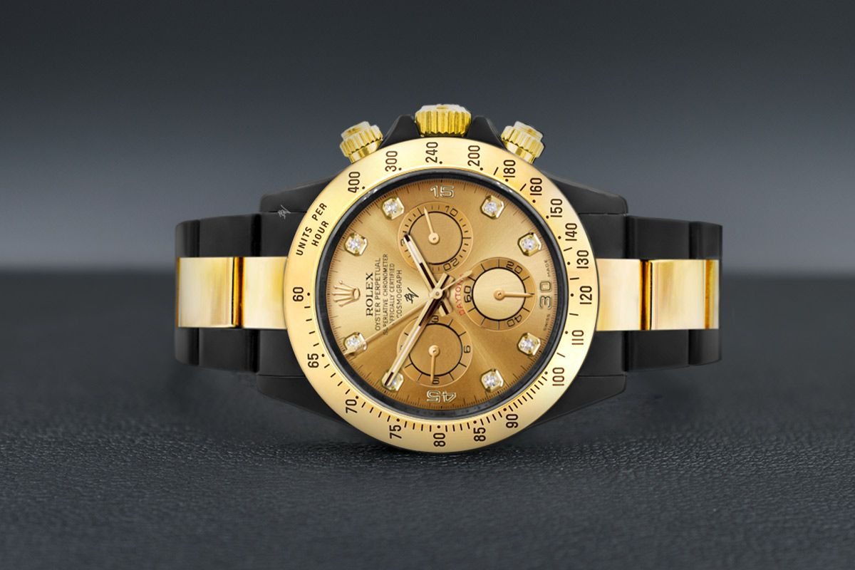 Rolex Gold & Diamond - Limited edition /35 Black Venom Dlc - Pvd
