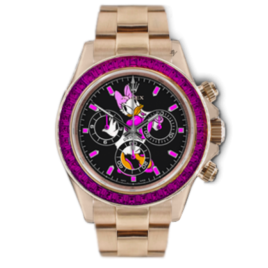 Rolex Pink Duck  - Limited edition /5 - Black Venom custom