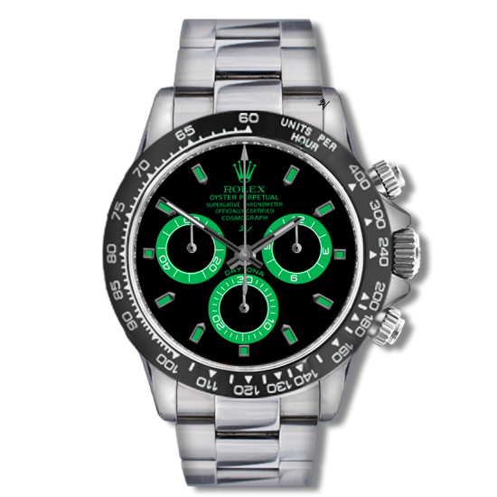 Rolex light green - Limited edition /5 - Black Venom custom