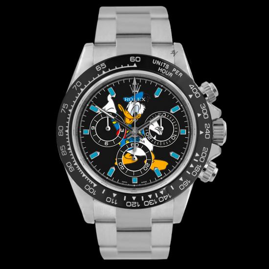 Rolex  Donald Duck  - Limited edition /5 - Black Venom custom