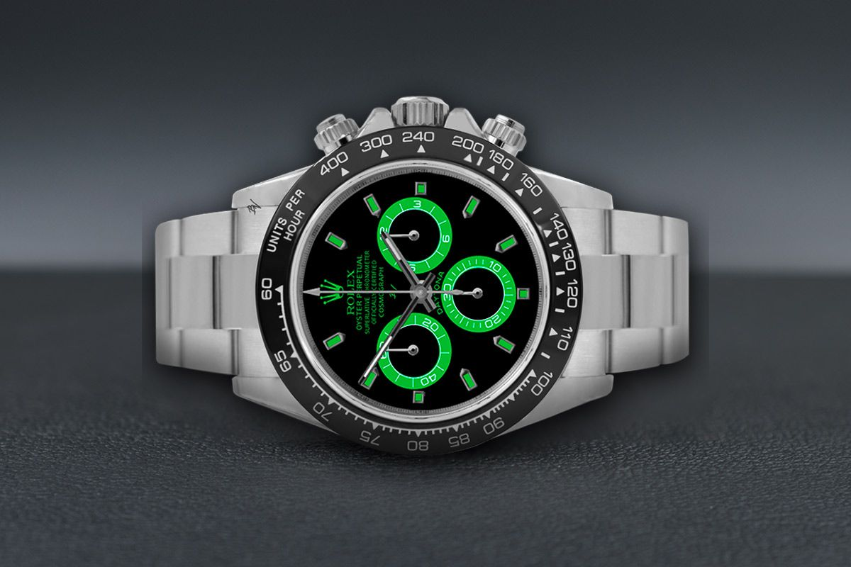 Rolex light green - Limited edition /5 - Black Venom custom