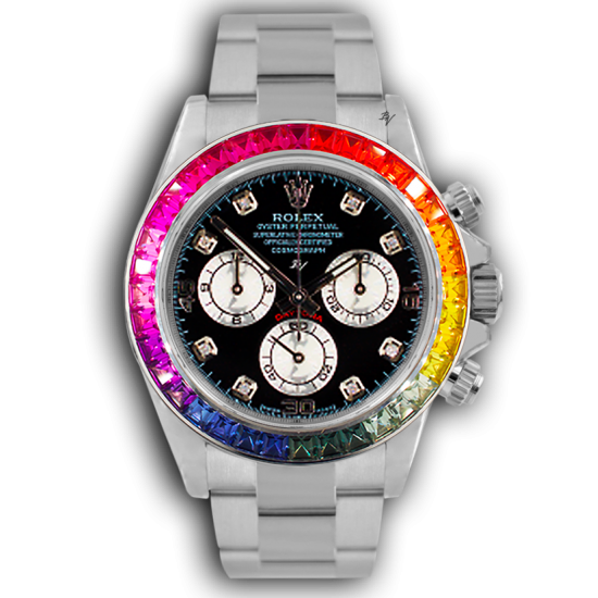 Rolex Steel Rainbow  - Limited edition /5 - Black Venom custom