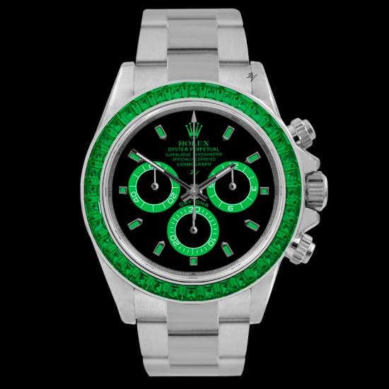 Rolex Emerald - Limited edition /5 - Black Venom custom