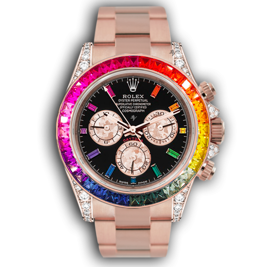 Rolex Bright rainbow - Limited edition /5 - Black Venom custom