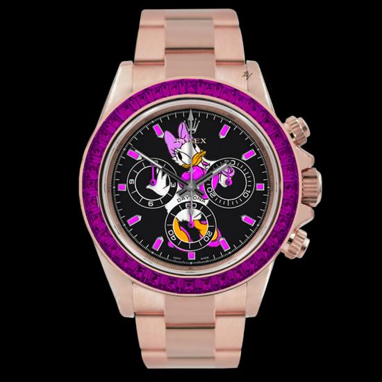 Rolex Pink Duck  - Limited edition /5 - Black Venom custom
