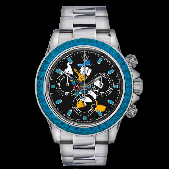 Rolex Master Donald Duck - Limited edition /5 - Black Venom custom