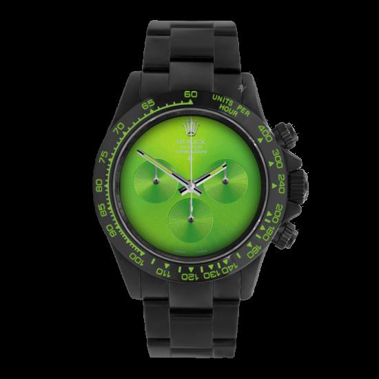 Rolex Pure Green  - Limited edition /10 Black Venom Dlc - Pvd