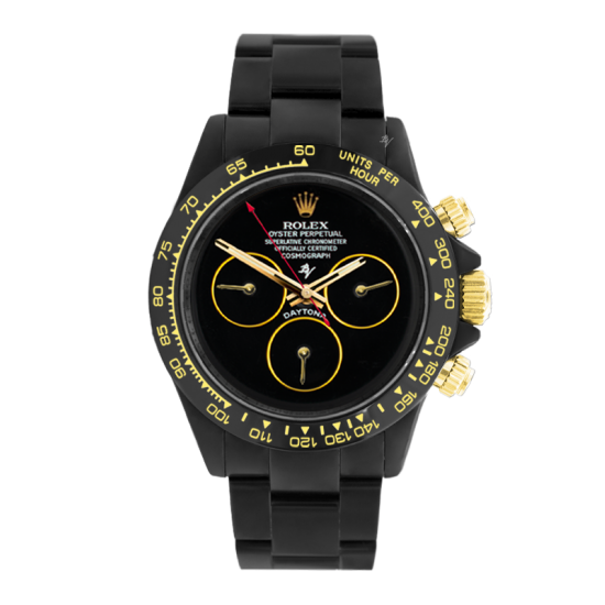 Rolex Pitch Black  - Limited edition /10 Black Venom Dlc - Pvd