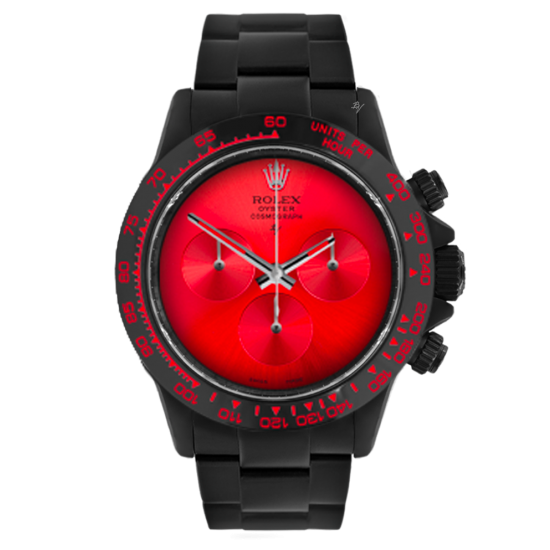 Rolex Pure Red  - Limited edition /10 Black Venom Dlc - Pvd