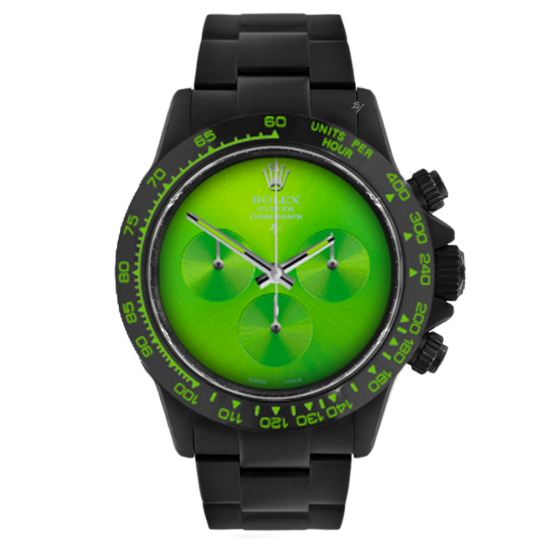 Rolex Pure Green  - Limited edition /10 Black Venom Dlc - Pvd