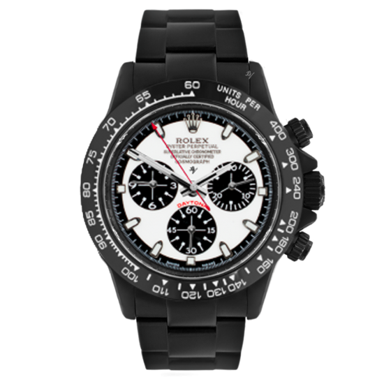 Rolex Black and white  - Limited edition /10 Black Venom Dlc - Pvd