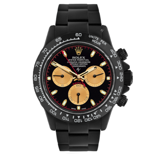 Rolex Cosmograph Daytona Black Gold  - Limited edition /10 Black Venom Dlc - Pvd