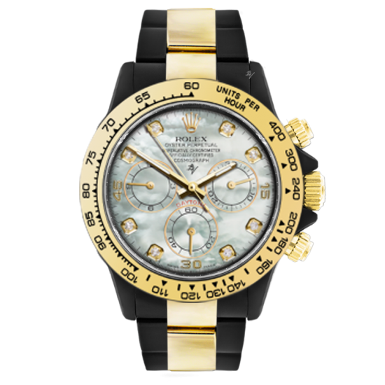 Rolex Light Mother of Pearl - Limited edition /35 Black Venom Dlc - Pvd