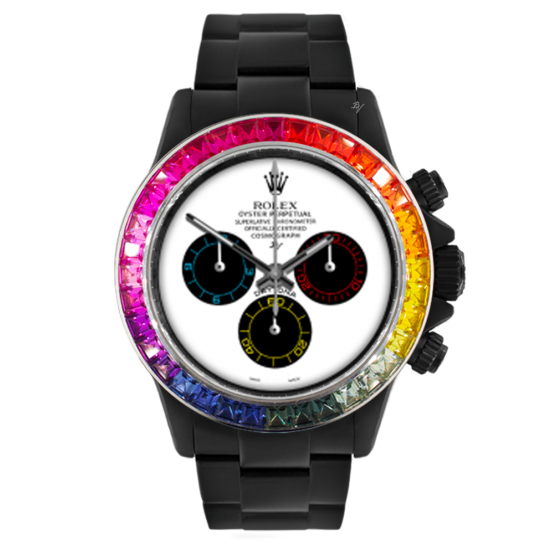 Rolex Rainbow White - Limited edition /5 Black Venom Dlc - Pvd