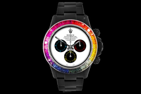 Rolex Rainbow White - Limited edition /5 Black Venom Dlc - Pvd