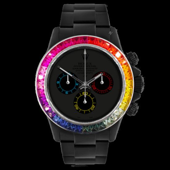 Rolex Rainbow Dark - Limited edition /5 Black Venom Dlc - Pvd