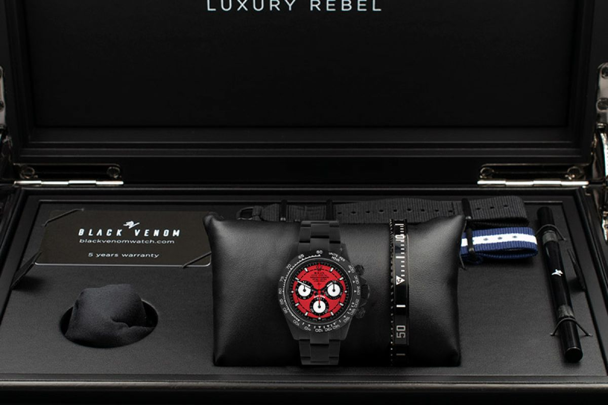Rolex Bordeaux  - Limited edition /10 Black Venom Dlc - Pvd