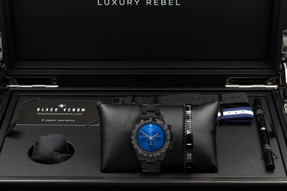 Rolex Pure Blue  - Limited edition /10 Black Venom Dlc - Pvd