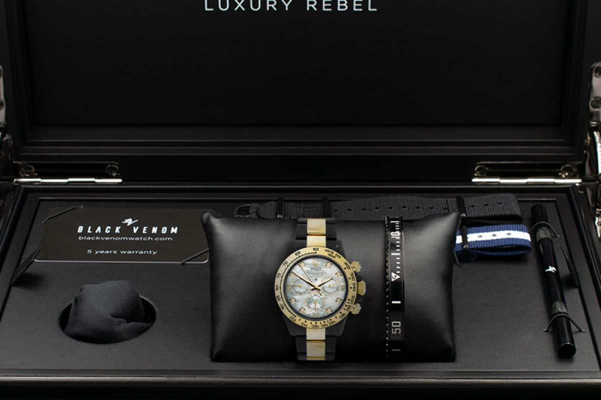 Rolex Light Mother of Pearl - Limited edition /35 Black Venom Dlc - Pvd