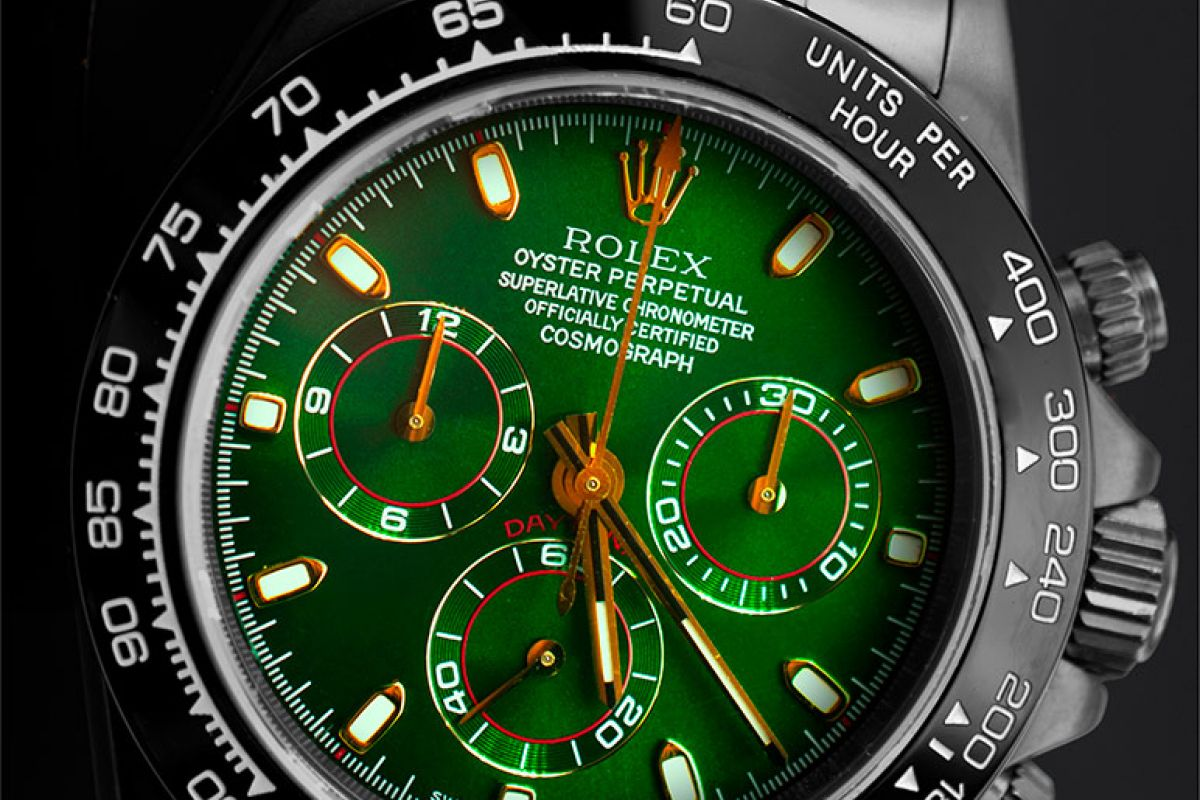 Rolex Green & Gold  - Limited edition /10 Black Venom Dlc - Pvd