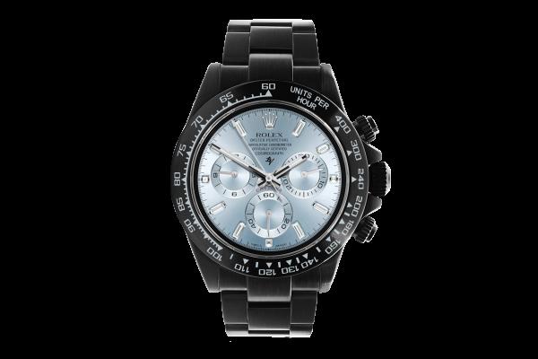 Rolex 116520 Black Venom - Full Blue Ice & Baguette  - Limited edition /10