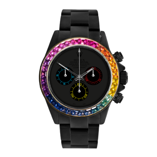 Rolex Rainbow Dark - Limited edition /5 Black Venom Dlc - Pvd