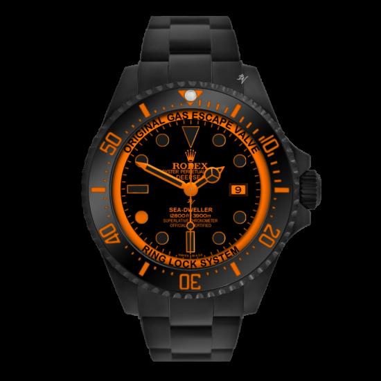 Rolex Deepsea Orange Dot - Limited Edition /10 Black Venom Dlc - Pvd *