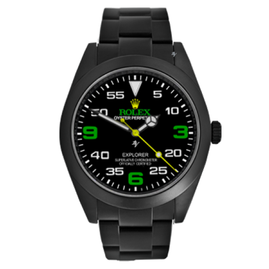 Rolex Explorer Green - Limited Edition /10 Black Venom Dlc - Pvd