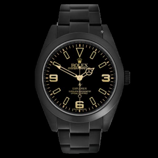 Rolex Explorer Limited Edition /10 Black Venom Dlc - Pvd
