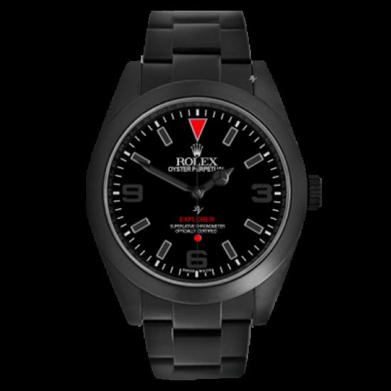 Rolex Explorer Red Taste MK1- Limited Edition /10 Black Venom Dlc - Pvd