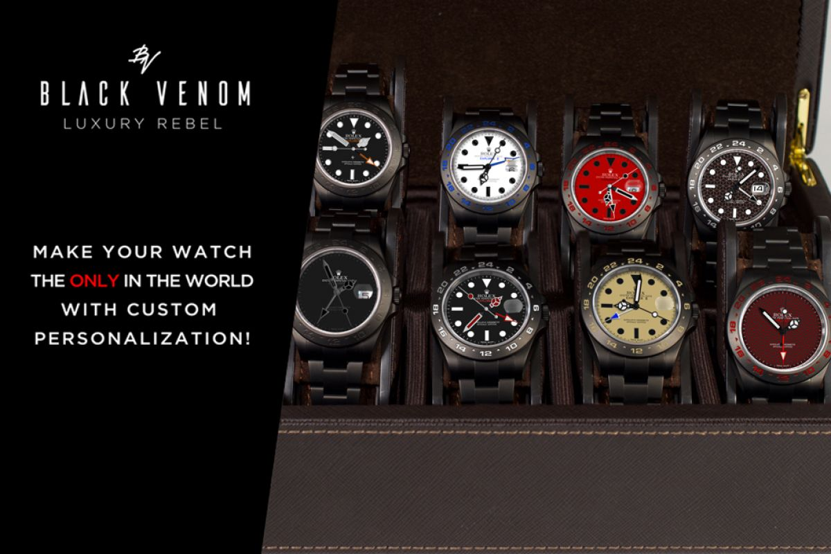 Rolex LIGHT - Limited Edition /10 Black Venom Dlc - Pvd *