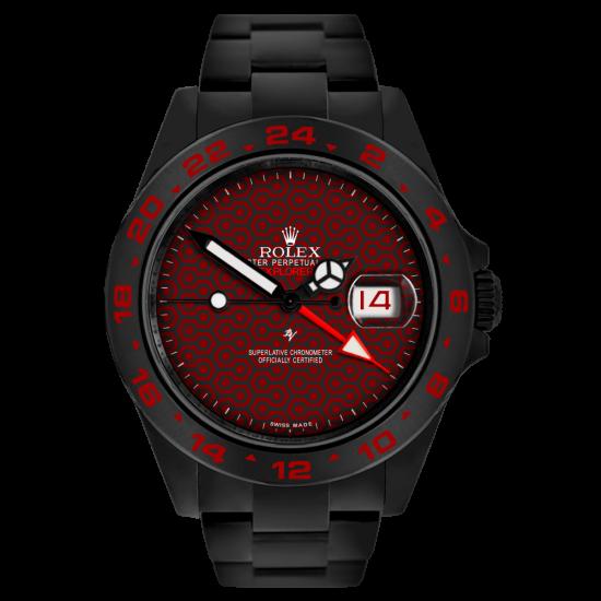 Rolex CREMISI - Limited Edition /10 Black Venom Dlc - Pvd