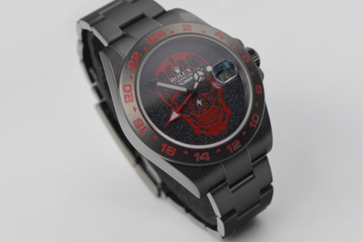 Rolex RED Skull - Limited Edition /10 Black Venom Dlc - Pvd *