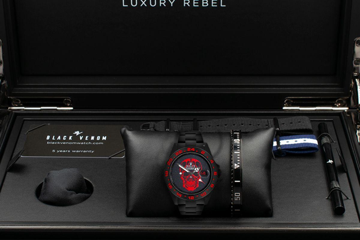 Rolex RED Skull - Limited Edition /10 Black Venom Dlc - Pvd