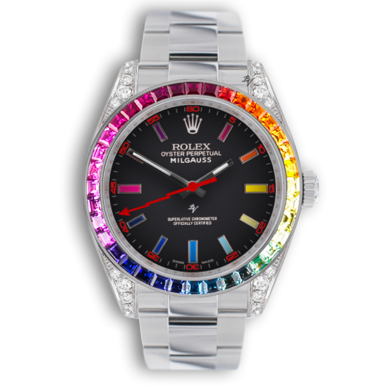 Rolex  Rainbow steel MK2 - Limited edition /5 - Black Venom custom