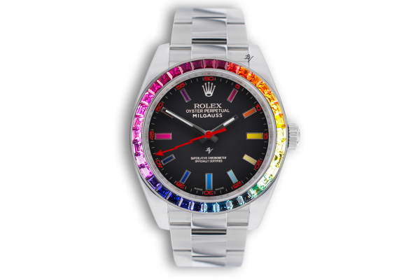 Rolex  Rainbow steel MK1  - Limited edition /5 - Black Venom custom