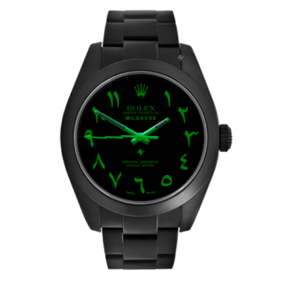 Rolex Milgauss Limited Edition /10 Black Venom Dlc - Pvd *