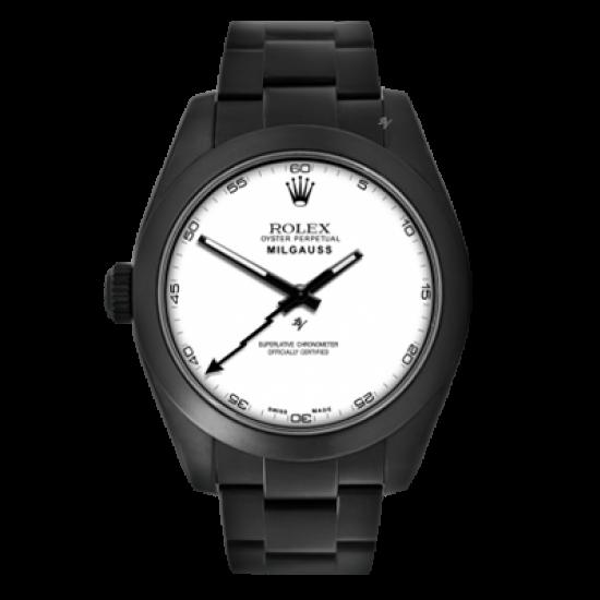 Rolex Milgauss Mancino - Limited Edition /10 Black Venom Dlc - Pvd *