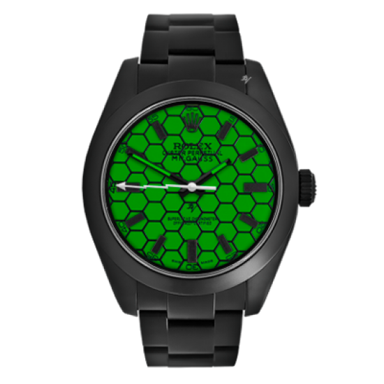 Rolex Turtle - Limited Edition /10 Black Venom Dlc - Pvd *