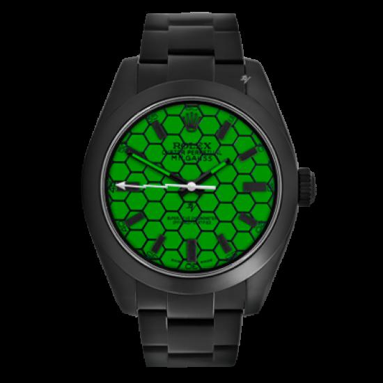 Rolex Milgauss Turtle - Limited Edition /10 Black Venom Dlc - Pvd *